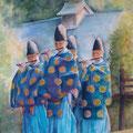 第31回藍の会水彩画展、テーマ「音のある風景」20号。