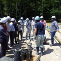 H29.7.26 「石山頭首工災害復旧工事」でJICAの現場見学会を受け入れました。