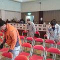 H28.3.6 「第40回 浦幌女性あいフェスティ」の会場設営や撤収作業をお手伝いしました