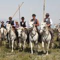 Concours de ferrade, présentation des cavaliers
