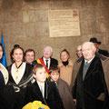 Inauguration de la plaque commémorative sur le lieu de création de la Confrérie, en présence des autorités