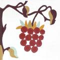 SOUTHERN TILES_CAROCIM Zementfliese_Tree of Life_Framboise VH203, 20x20 cm
