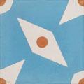 SOUTHERN TILES_CAROCIM Zementfliese, Petit Pan_Pépin PAN61, 20x20 cm