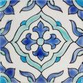 Orientalische Fayencen, keramische Wandfliese // Dekor: Maya 10x10 cm