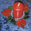 Weihnachtskerze rot, Durchmesser ca 19 cm, € 39,00
