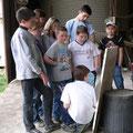 ferme pédagogique les patures orvaux au hangar des céréales