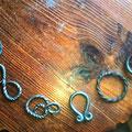 Differents maillons pour une chaîne de Mestre (costume Trône de Fer) en fer forgé