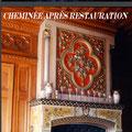Restauration d'une cheminée peinte XIXe. Commande privée