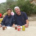Birgit und Gerhard betreuten den Posten 1