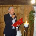 Galadinner im Chalet Suizo:Begrüssung der Gäste durch den Präsidenten