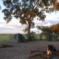 Zelte im Okavango Delta