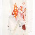 Collage und Malerei auf Papier, kleines Format, Künstler Harald Kröner