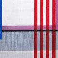 Malerei auf Holzrahmen, heller Grund mit grauer Fläche und sroten Streifen, 40 cm x 60 cm, Künstler Stephan Wolter
