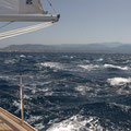 Strait of Messina: Wind against current