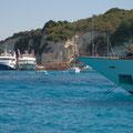 packed anchorage at Antipaxos
