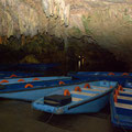 visiting the caves of Diros by boat