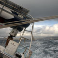 crossing back to Sardinia with near gale winds