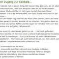 Mein Zugang zur Kabbala....
