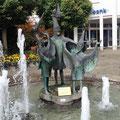 Ein Narrenbrunnen in Steißlingen