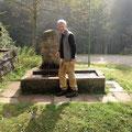 ein Brunnen an der Kreuzsattelhütte (keine Übernachtungsmöglichkeit)