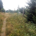 Kurz vor der Langmartskopfhütte geht es rechts ab