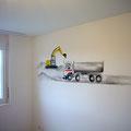 Wandbild Baustelle