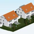 Aktuell: Neubau von vier Doppelhaushälften in Simmozheim