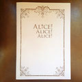 Alice! Alice! Alice! _A4パンフレット(表紙)