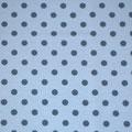 hellblau / blau Punkte