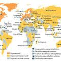 Atlas du climat, éd. Autrement (2015). Map