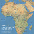 GEO / Poster Afrique / Poster 50 places you must see in Africa, map