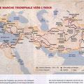 Historia, Voyages d'Alexandre / Alexander the Great's journeys map
