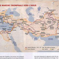 Historia, Voyages d'Alexandre / Alexander the Great's journeys map