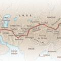Ça M'intéresse Histoire / Croisière Jaune / The Citroen Cruise, map