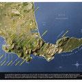 GEO / Carte 3D du Cap, Afrique du Sud / Map of Cape Town, South Africa