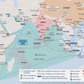 Atlas de l'Inde, éd. Autrement (2016). / India -  Indian Ocean map