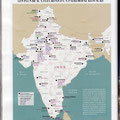 GEO / Palais des maharajas en Inde / Palaces in India map