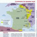 Historia / La France Louis XIV / French kingdom in the 17th century, map