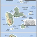 GlobalMagazine.info / Antilles Fr. / French West Indies map