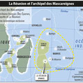 Global Magazine / Mascareignes / French isles in the Indian Ocean, map
