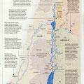 GEO / Le Jourdain / Jordan River map