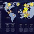 GEO / Le monde en cartes - Bonheur / World's happiest countries map