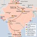 Atlas de l'Inde, éd. Autrement (2016). Most sacred places in India, map.