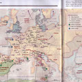 Historia / Europe en l'an mille / Europe in year 1000, map