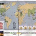 Ça M'Intéresse Histoire / Le monde des pyramides / Pyramid's World map
