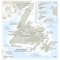National Geographic / Terre-Neuve / Newfounland, Canada map