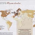 "GEO / Carte et typo ""Planète chocolat"" / Planet Chocolate map"