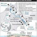Global Magazine / Canal Panamá / Panama Canal map