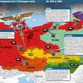 Historia / Expansion de l'Allemagne nazie 1935-1940 / Germany map