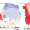 Atlas du climat, éd. Autrement (2015). Antarctica Groenland map